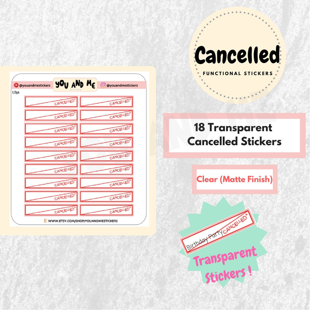 Clear Stickers | Transparent Stickers | LS32