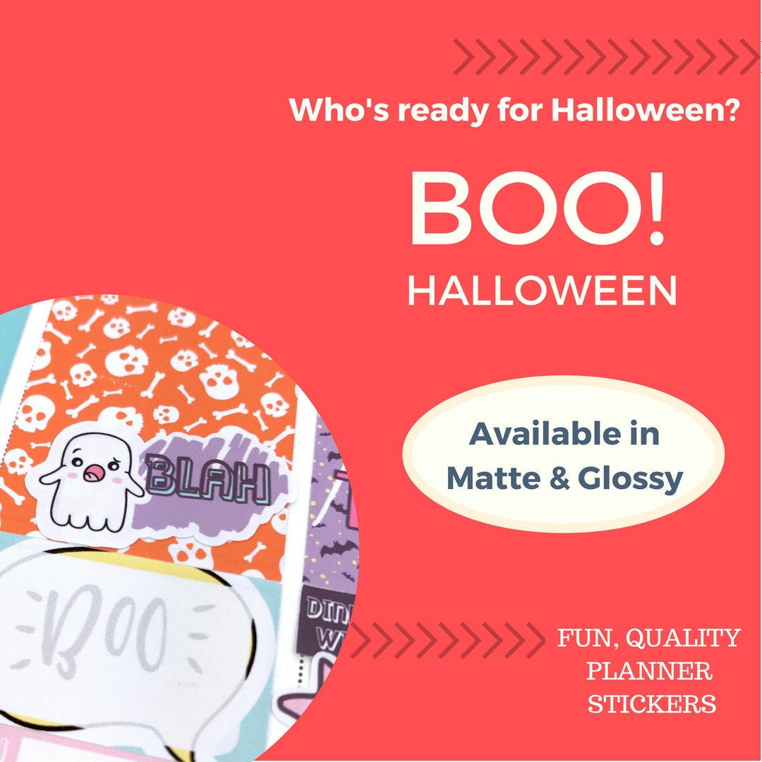 Weekly Kit | Halloween Stickers | Erin Condren | Happy Planner | WK15