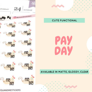 Pay Day | Planner Stickers | Erin Condren | CS14