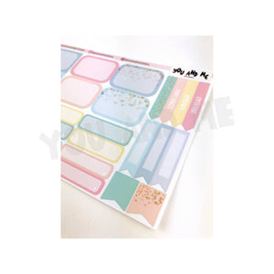 Pastel Stickers | Planner Stickers | Functional Stickers | Pastel | Weekly Stickers | Vertical | ECLP | Erin Condren | Happy Planner | PS18