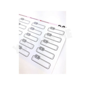 To do Stickers | Planner Stickers | Letter Stickers | Weekly Sticker | Script Sticker | Erin Condren | Happy Planner | Bullet Journal |LS18a