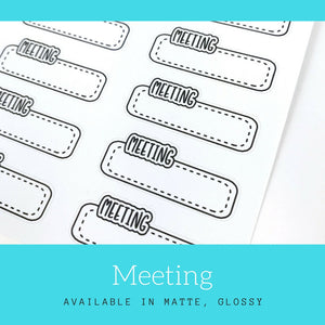 Meeting Stickers | Planner Sticker | Erin Condren | LS20a