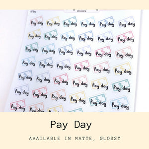 Pay Day Stickers | Planner Sticker | Erin Condren | IFS12
