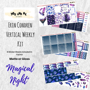 Weekly Stickers | Weekly Kit Stickers | Vertical Kit | Vertical Weekly Kit | Planner Stickers | Erin Condren Planner | Happy Planner | WK12