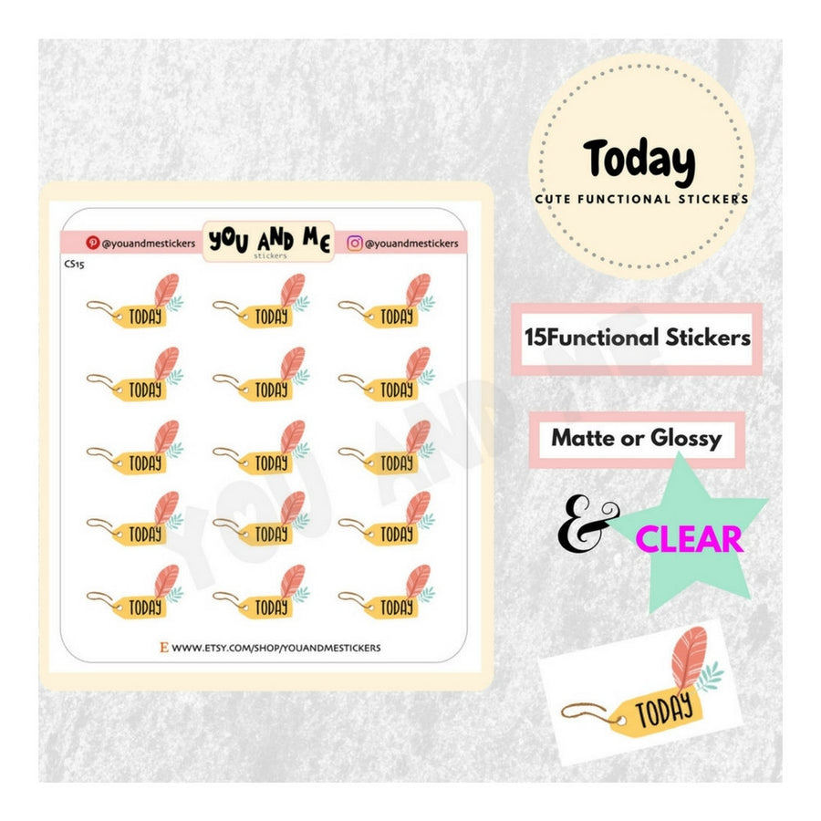 Today Stickers | Planner Stickers | CS15