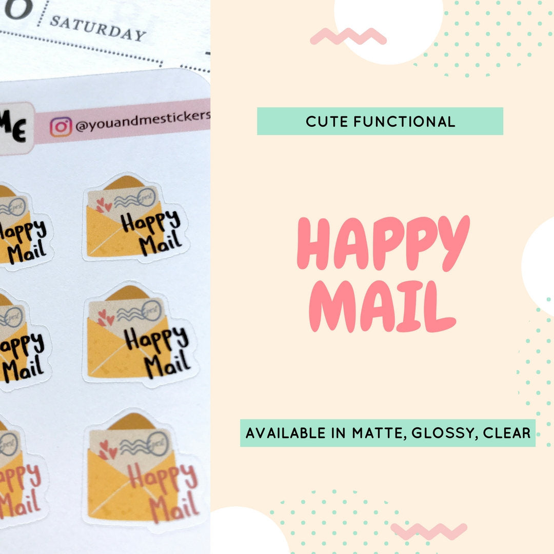 Happy Mail Stickers | Planner Stickers | Erin Condren | CS10