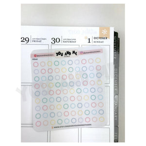 Transparent Stickers | Clear Stickers | Planner Sticker | Erin Condren | FBS46