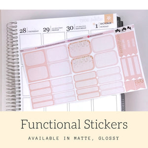 Pastel Stickers | Planner Stickers | Functional Stickers | Pastel | Weekly Stickers | Vertical | ECLP | Erin Condren | Happy Planner | PS12