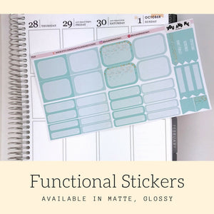 Pastel Stickers | Planner Stickers | Functional Stickers | Pastel | Weekly Stickers | Vertical | ECLP | Erin Condren | Happy Planner | PS14