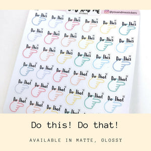 Planner Stickers | Erin Condren | Happy Planner | Bullet Journal | IF10