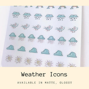 Weather Sticker | Planner Stickers | Erin Condren | CS27b