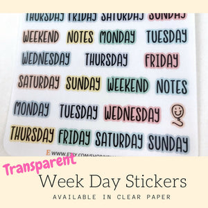 Transparent Sticker | Planner Sticker | Erin Condren | HS33b