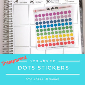 Transparent Stickers | Clear Stickers | Planner Sticker | Erin Condren | FBS47