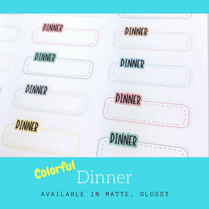 Dinner Stickers | Planner Stickers | Erin Condren | LS15b