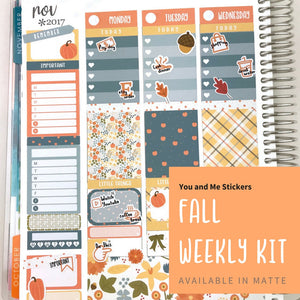 Weekly Kit | Fall Weekly Kit | Planner Stickers | Erin Condren | WK18