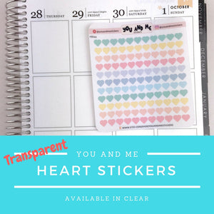 Transparent Stickers | Clear Stickers | Planner Stickers | Erin Condren | FBS43