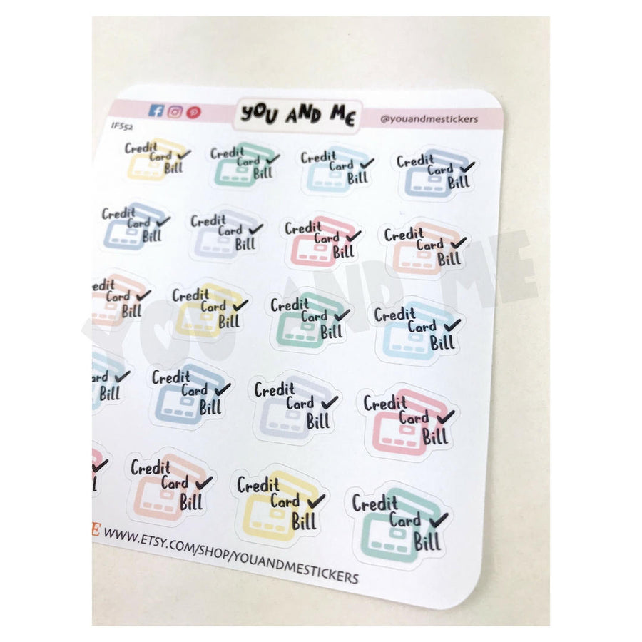 Bill Sticker | Planner Sticker | Erin Condren | IFS52