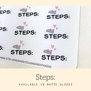 Fitness Stickers | Script Sticker | Erin Condren | HS44