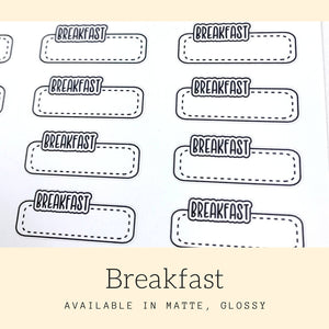 Meal Stickers | Planner Stickers | Erin Condren | LS49a