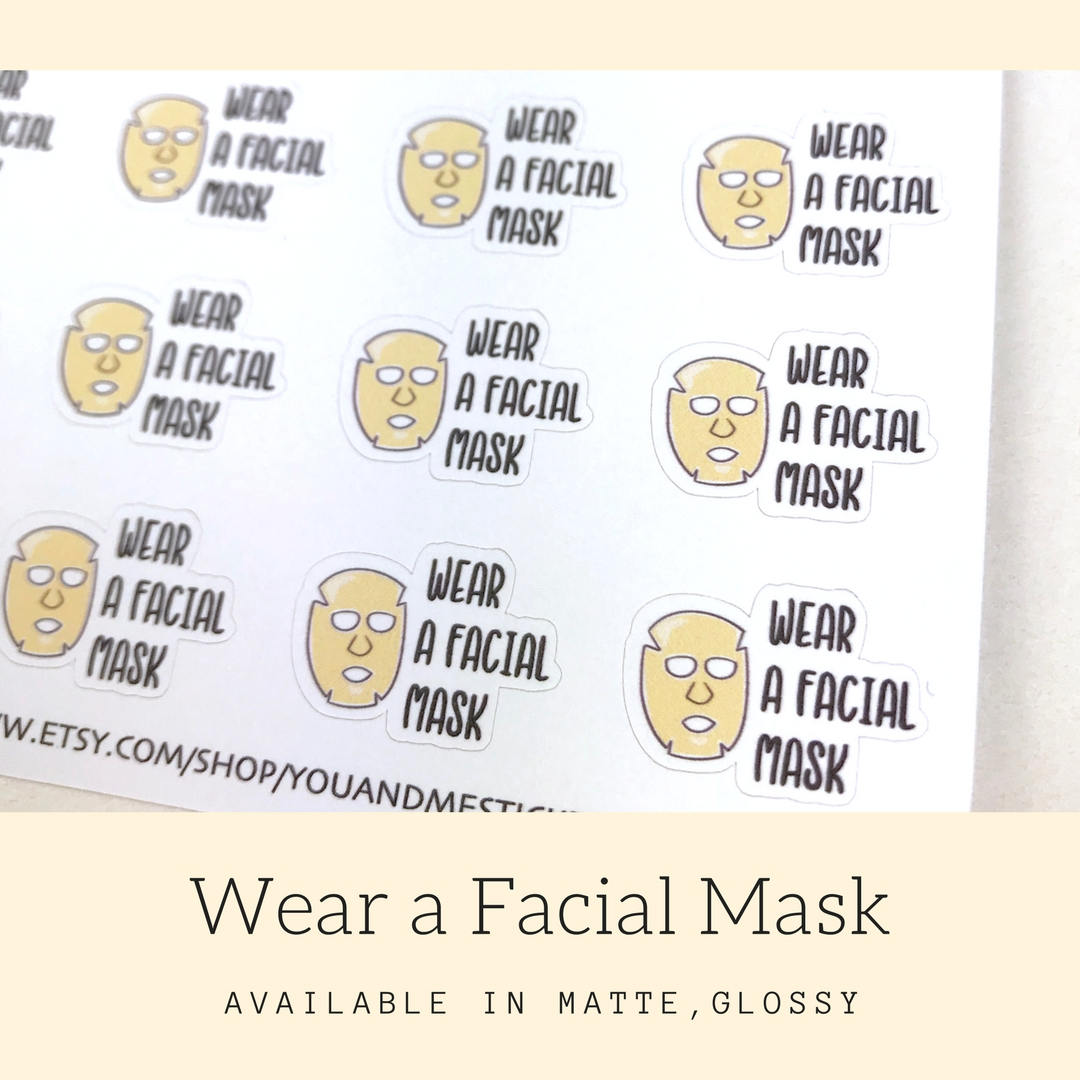Facial Sticker | Planner Sticker | Erin Condren | CS34
