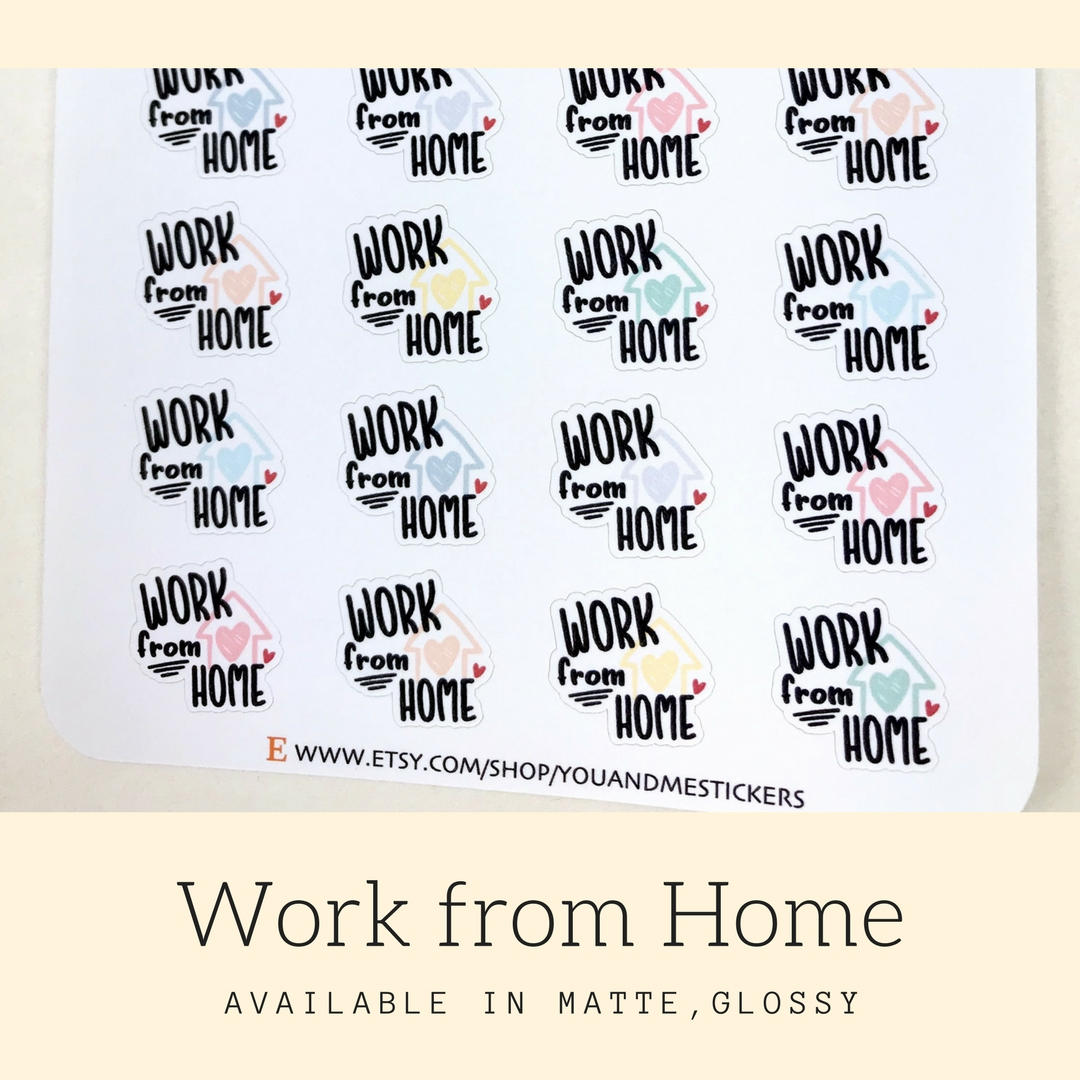 Work Sticker | Planner Sticker | Home Sticker | Reminder Sticker | Weekly Sticker | Work Schedule | Erin Condren | Happy Planner | IFS49