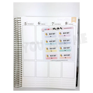 Night Shift | Planner Sticker | Erin Condren | FBS82