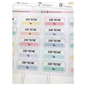 Meeting Stickers | Planner Sticker | Erin Condren | FBS69