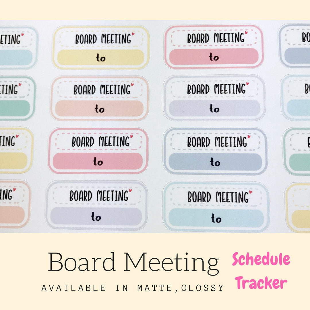 Meeting Stickers | Planner Sticker | Erin Condren | FBS67