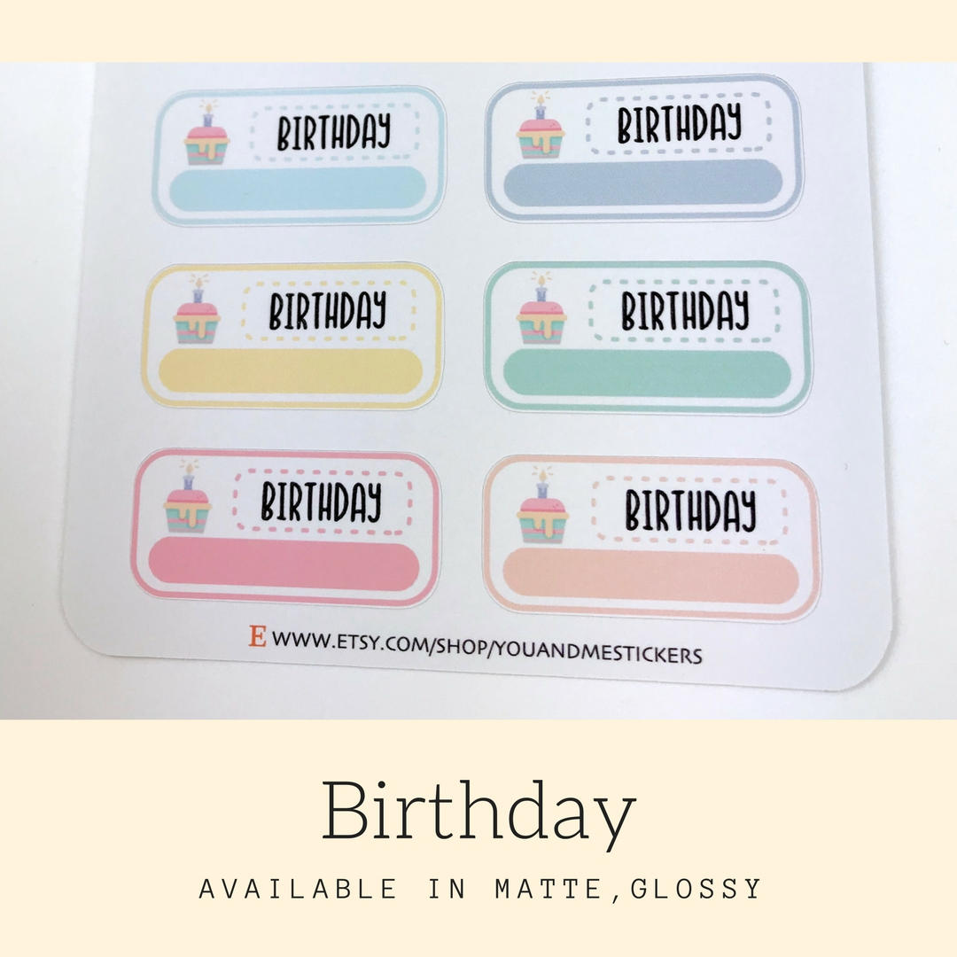 Birthday Sticker | Planner Sticker | Erin Condren | FBS99