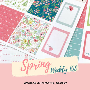 Weekly Kit | Spring Sticker | Planner Stickers | Erin Condren | WK31