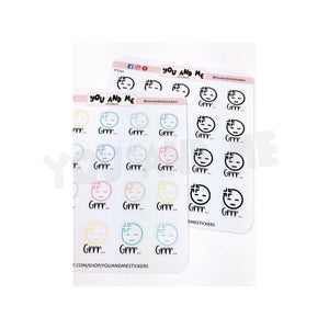 Emoticon Stickers | Kawaii Stickers | Pastel Stickers | Planner Stickers | Stickers | Erin Condren | Happy Planner | IFS73