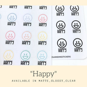 Emoticon Stickers | Kawaii Stickers | Pastel Stickers | Planner Stickers | Cute Stickers | Erin Condren | Happy Planner | IFS82