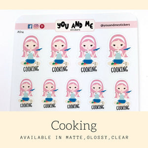Cooking Stickers | Character Stickers | Katie | AS14