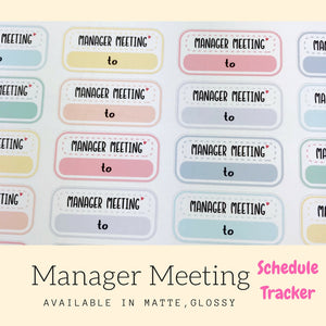 Meeting Stickers | Planner Sticker | FBS71