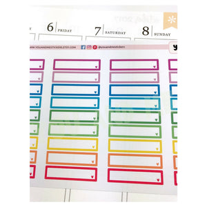 Label Stickers | Appointment Stickers | Rainbow Stickers | Headers | Heart Stickers | Erin Condren Planner | Happy Planner | BS11