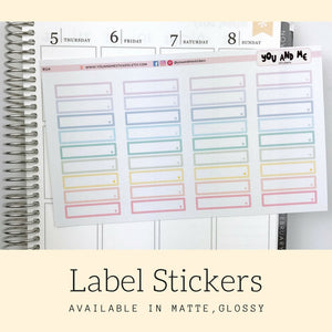 Label Stickers | Planner Stickers | Erin Condren Planner | BS14