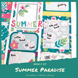 Weekly Kit | Summer Sticker | Erin Condren | Planner Stickers | WK36