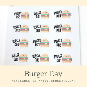Burger Stickers | Planner Stickers | Erin Condren | CS59
