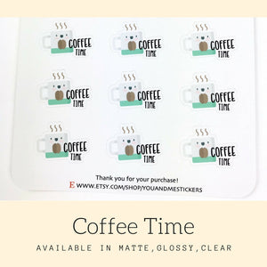 Coffee Time Stickers | Kawaii Stickers | CS55