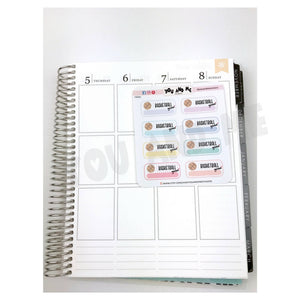 Basketball Sticker | Planner Sticker | Erin Condren | FBS87