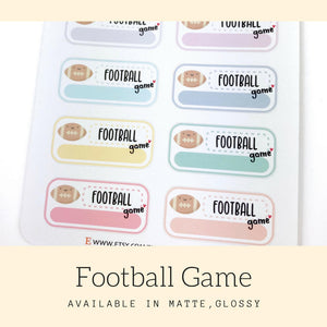 Football Sticker | Planner Sticker | Erin Condren | Happy Planner | FBS92