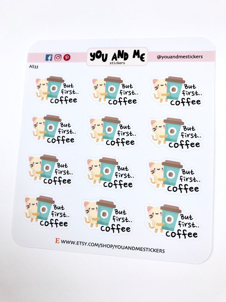 But first Coffee Stickers | Character Stickers | AS33