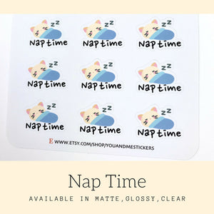 Nap Time Stickers | Character Stickers | AS30