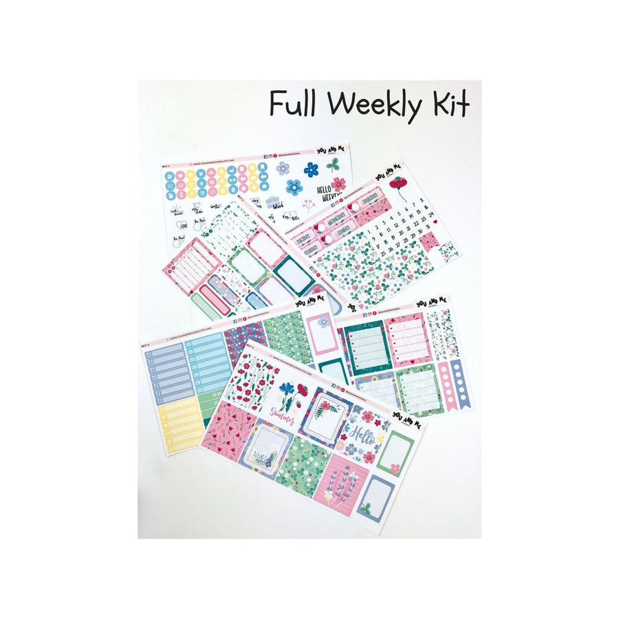 Weekly Kit | Erin Condren | Summer | Planner Stickers | WK37