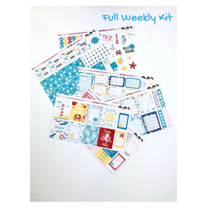 Weekly Kit | Summer Sticker | Erin Condren | Planner Stickers | WK42