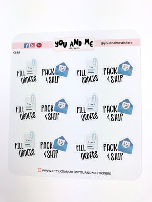 Etsy Shop Stickers | Planner Stickers |Erin Condren | CS88