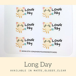 Long Day Stickers | Character Stickers | AS37