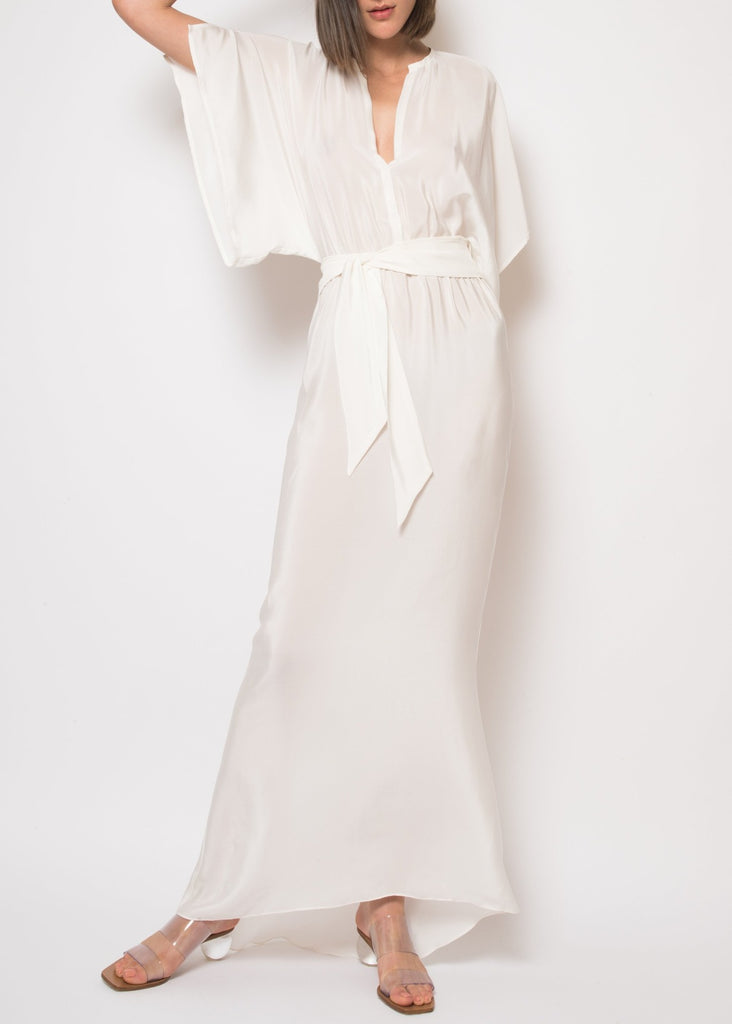 Norma white long dress