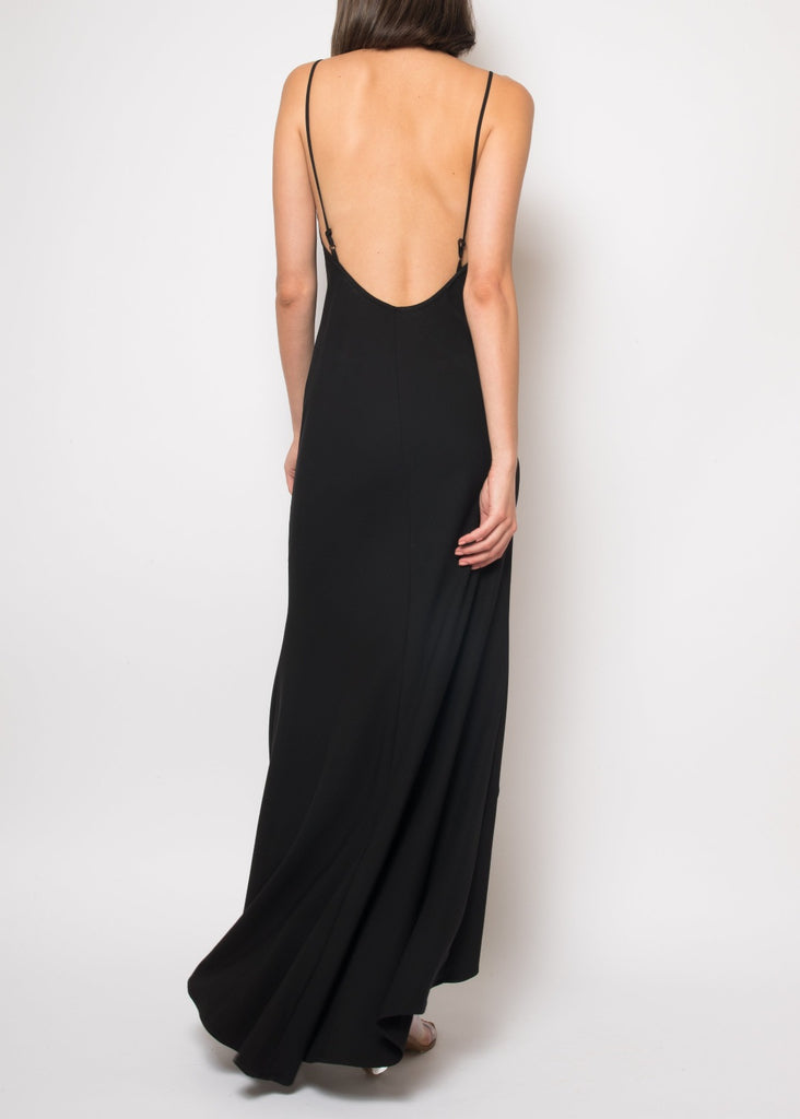 Angelique Black Slip Dress