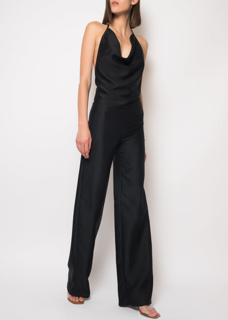 Faye Black Backless Jumpsuit